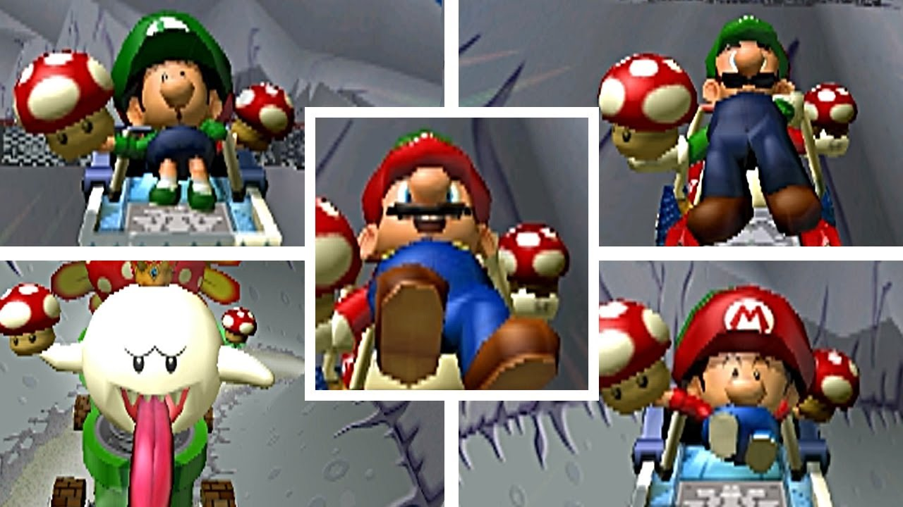 All Characters Launched Through A Barrel Cannon Backwards In Mario Kart Double Dash
