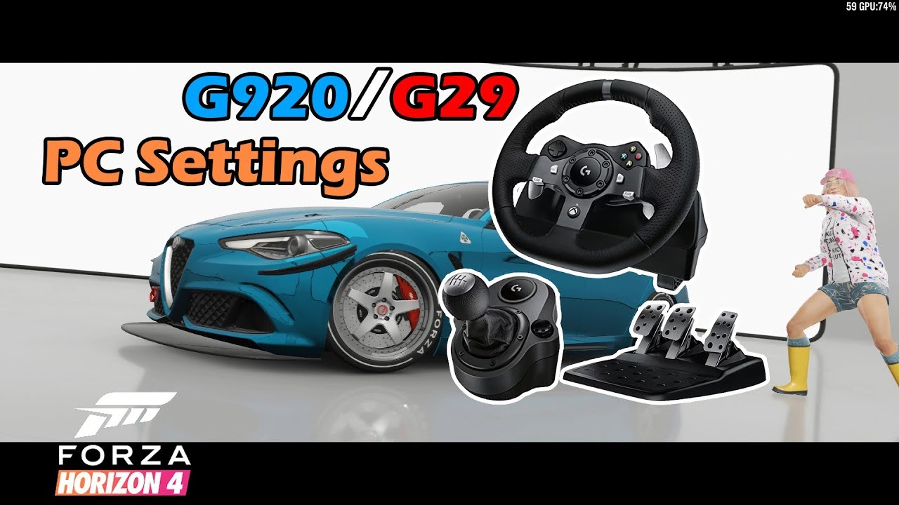 [Forza Horizon 4] PC Wheel Settings for G920 and G29