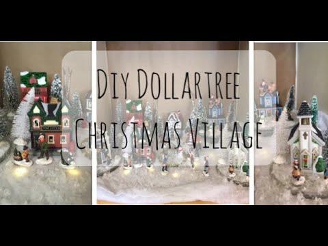 DIY Dollartree Christmas Village