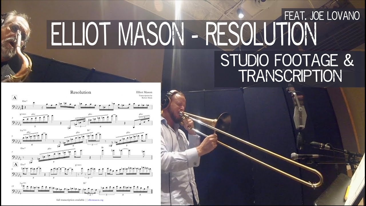 Elliot Mason - Resolution - Live Studio Footage + Transcription