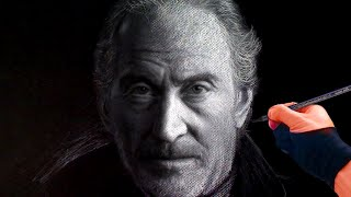 Drawing Tywin Lannister (Game of Thrones) - Time-lapse ThePortraitArt