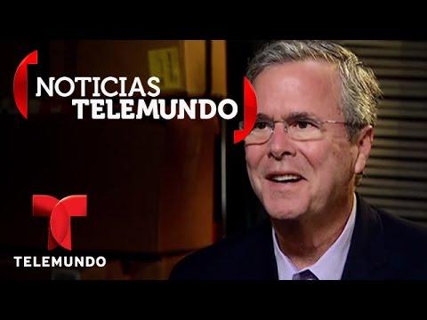 Telemundo habló con el precandidato a la presidencia Jeb Bush | Noticias | Noticias Telemundo