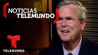Telemundo habló con el precandidato a la presidencia Jeb Bush   Noticias   Noticias Telemundo