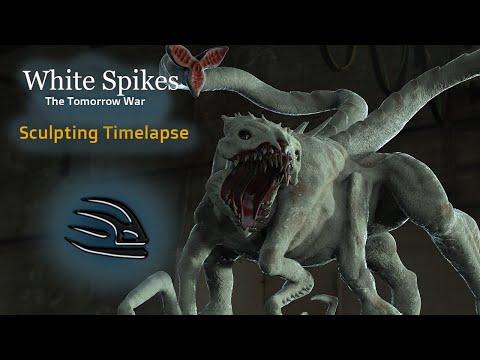 White Spikes  - Timelapse Sculpting similar Zbrush Software