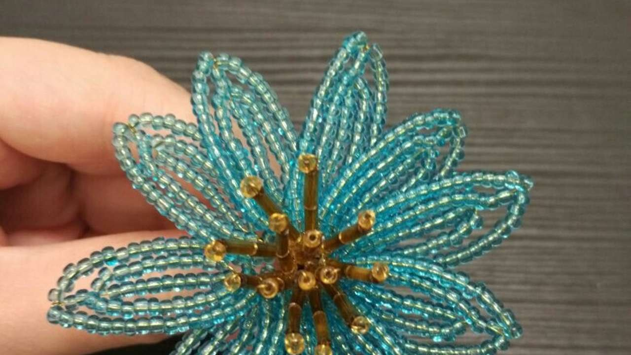 How To Make An Amazing Beaded Flower - DIY Crafts Tutorial ...