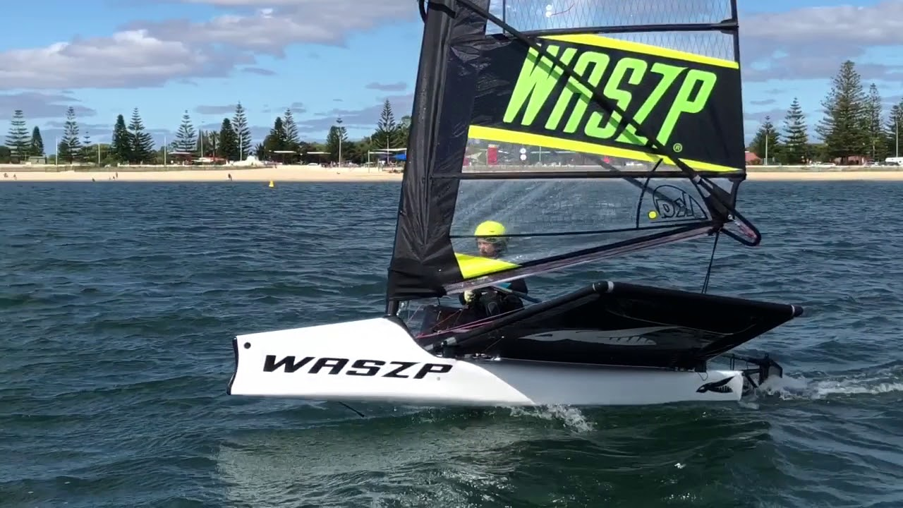 Waszp Sailing New Boat First Sail With Will Drew Sailing
