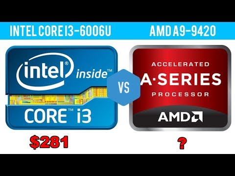 Intel Core I3 6006u Vs Amd A9 9420 Youtube