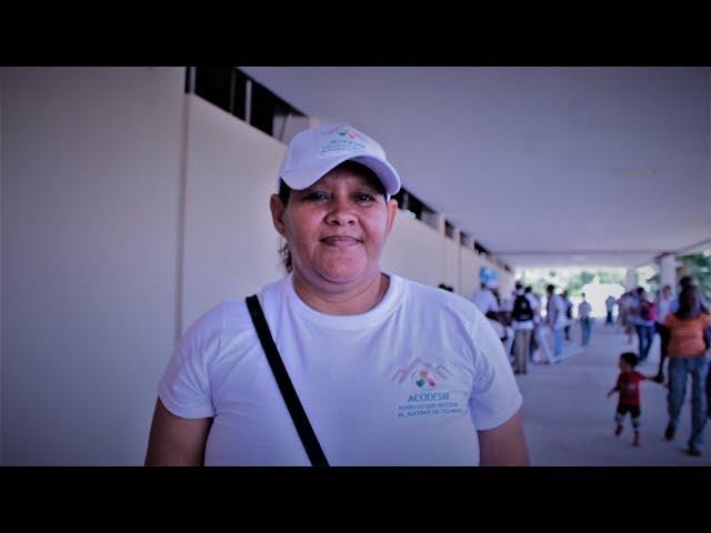 Margarita Girado opina sobre la apertura del nuevo Mercado de Santa Rita.