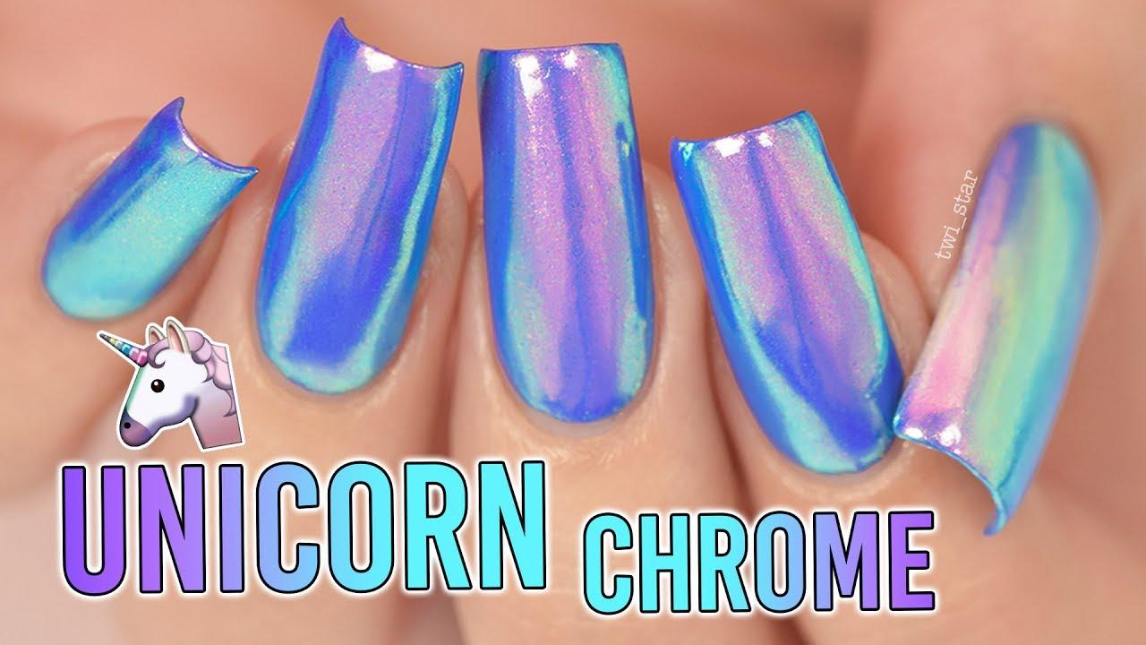 apply unicorn chrome mirror powder