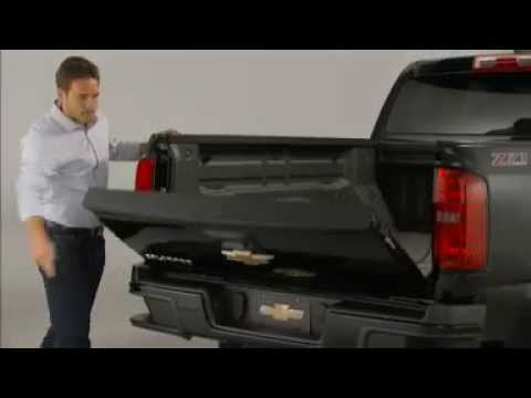 Video Chevy Colorado 2015 how to use and remove tail gate video