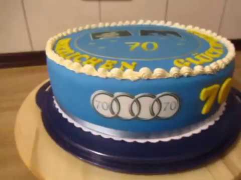 70geburtstag Torte Fondant Torte Happy Birthday Foto Torte Youtube