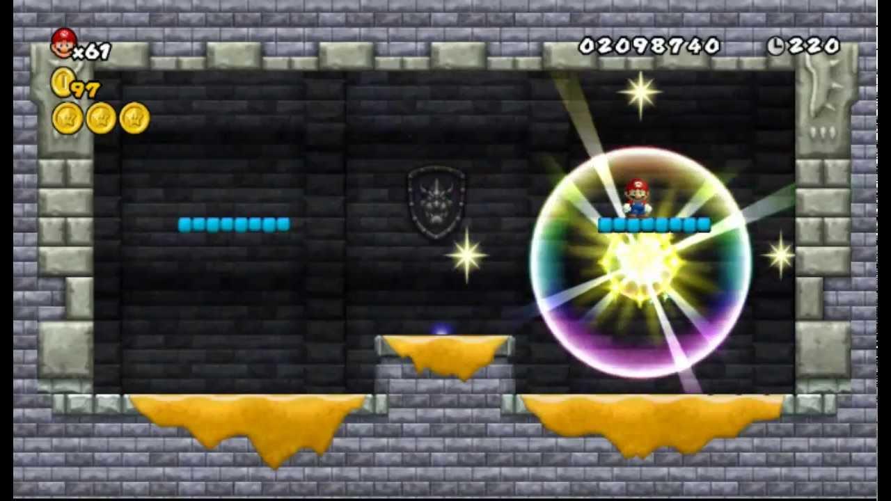 Video - Newer Super Mario Bros Wii World 3-Castle Moltenwire