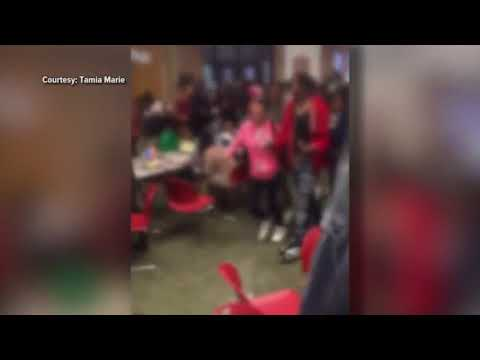 RAW: Inside footage from student after large fight breaks out at Arsenal Tech High School