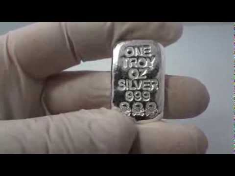 1 Troy Oz Hand Poured 999 Fine Silver Bar Skull And Bones