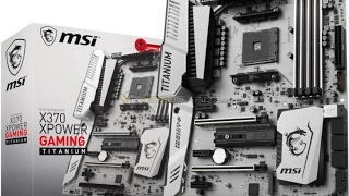 msi x370 xpower gaming titanium am4 motherboard for 299 us