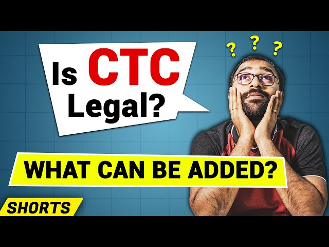 🟥CTC (Cost to Company), is it legal? CTC Salary Structure #Shorts
