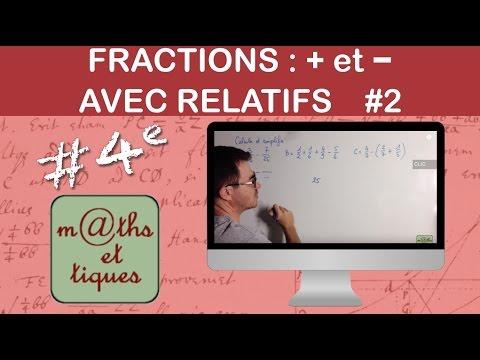 Effectuer des additions et soustractions de fractions ...