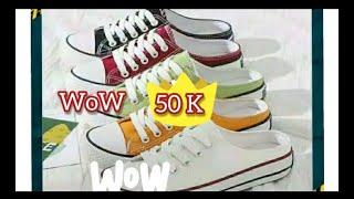 unboxsing sepatu 50 K