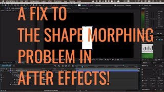 After Effects Tutorial | QUICK TIP | Morphing Mask Shapes Problem and Solution
