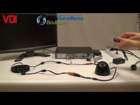 installation camera de surveillance et enregistreur numérique vidéo surveillance