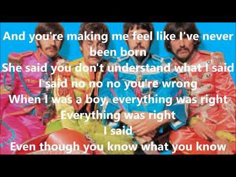 She Said She Said with lyrics(The Beatles)