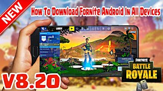 Fortnite Android Season 8 Mod APK Working In All Devices | VPN/GPU Fix | Link in Description