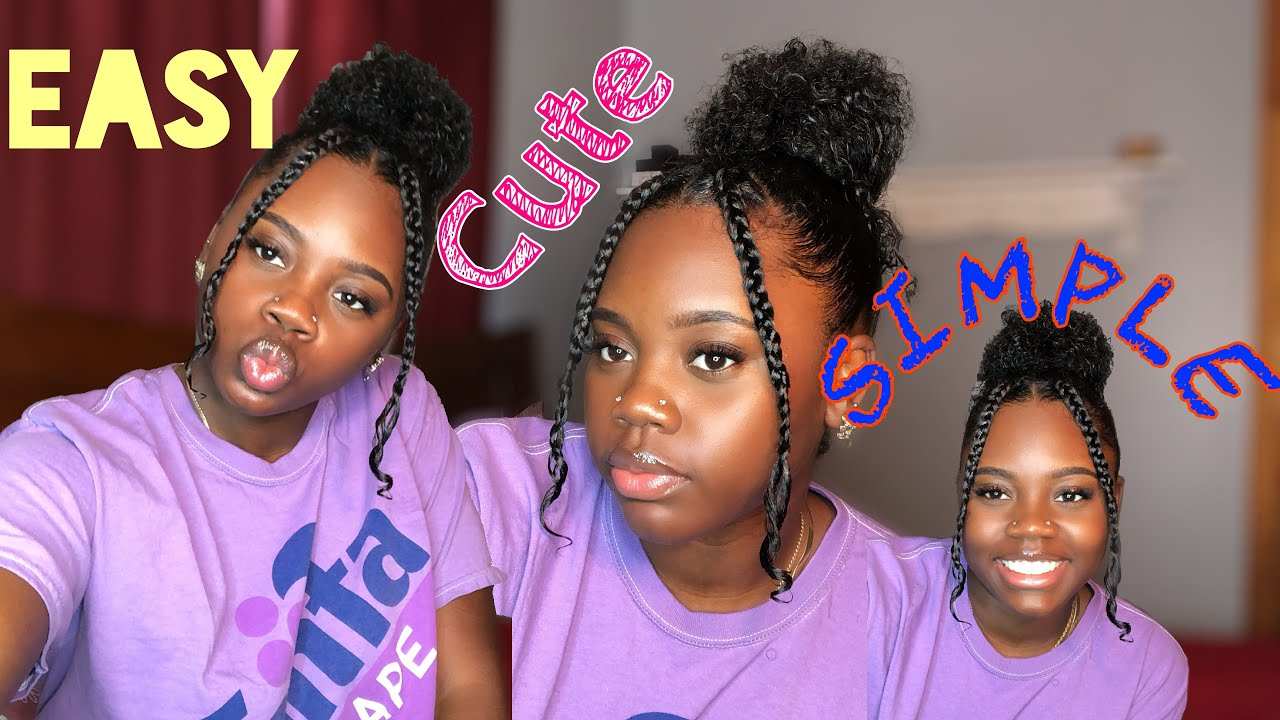 EASY CUTE SIMPLE HAIRSTYLE | Natural Hair | TheyCallMe Deezy - YouTube