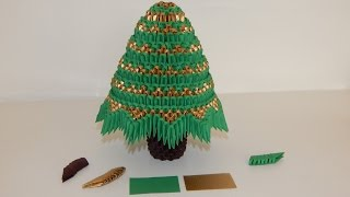 How To Make 3d Origami Christmas Tree Model 3 Part 2