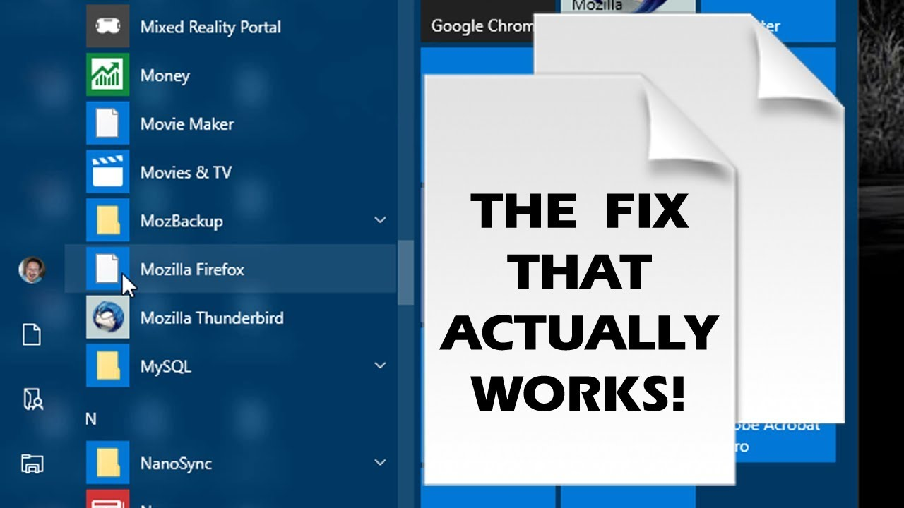 fixing white    missing windows 10 start menu icons