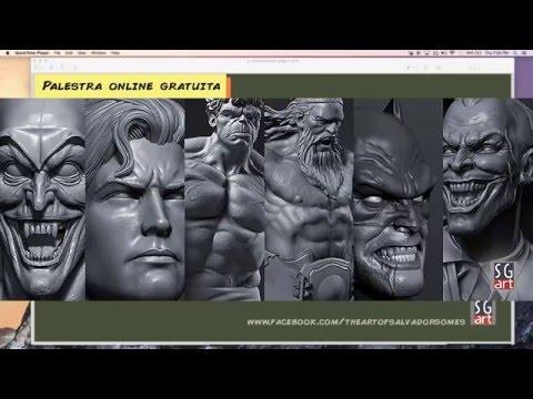 Palestra com o escultor Salvador Gomes