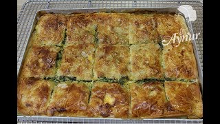 Ispanakli kolay tepsi böregi I Baklavalik yufkayla en lezzetli ve en kolay börek tarifi
