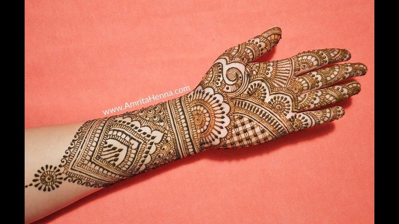 bridal mehandi design image