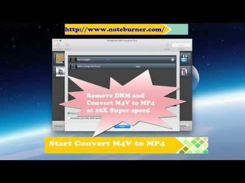 Remove ITunes DRM And Convert M4V To MP4 With NoteBurner At 20x Fast Speed