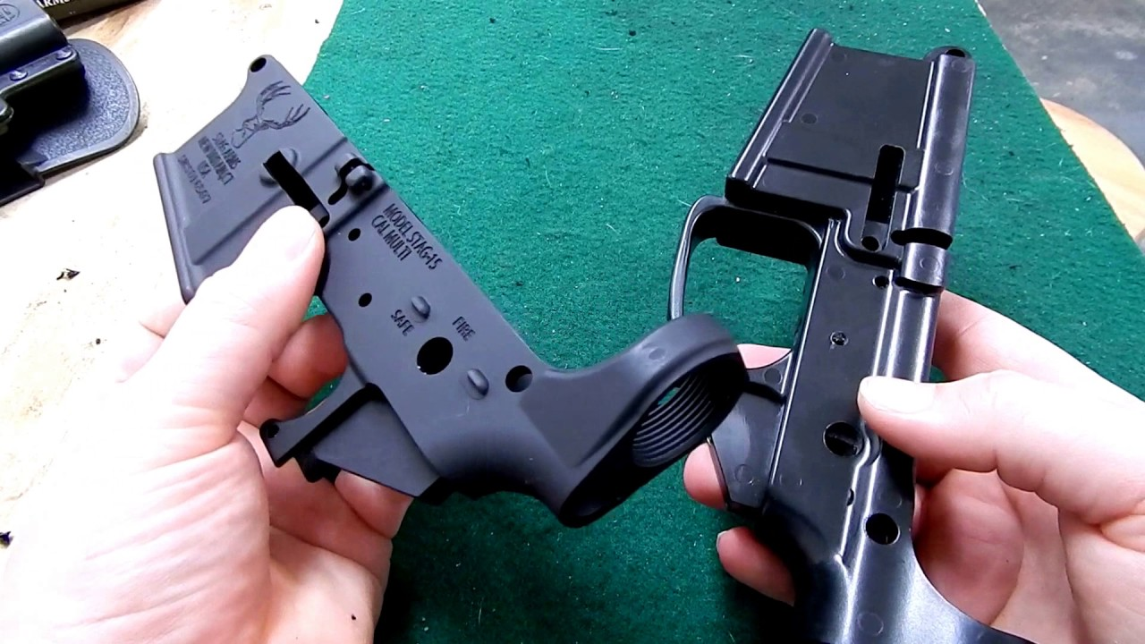 Comparison of Mil-spec Ar Lower & Genesis 80% polymer Lower