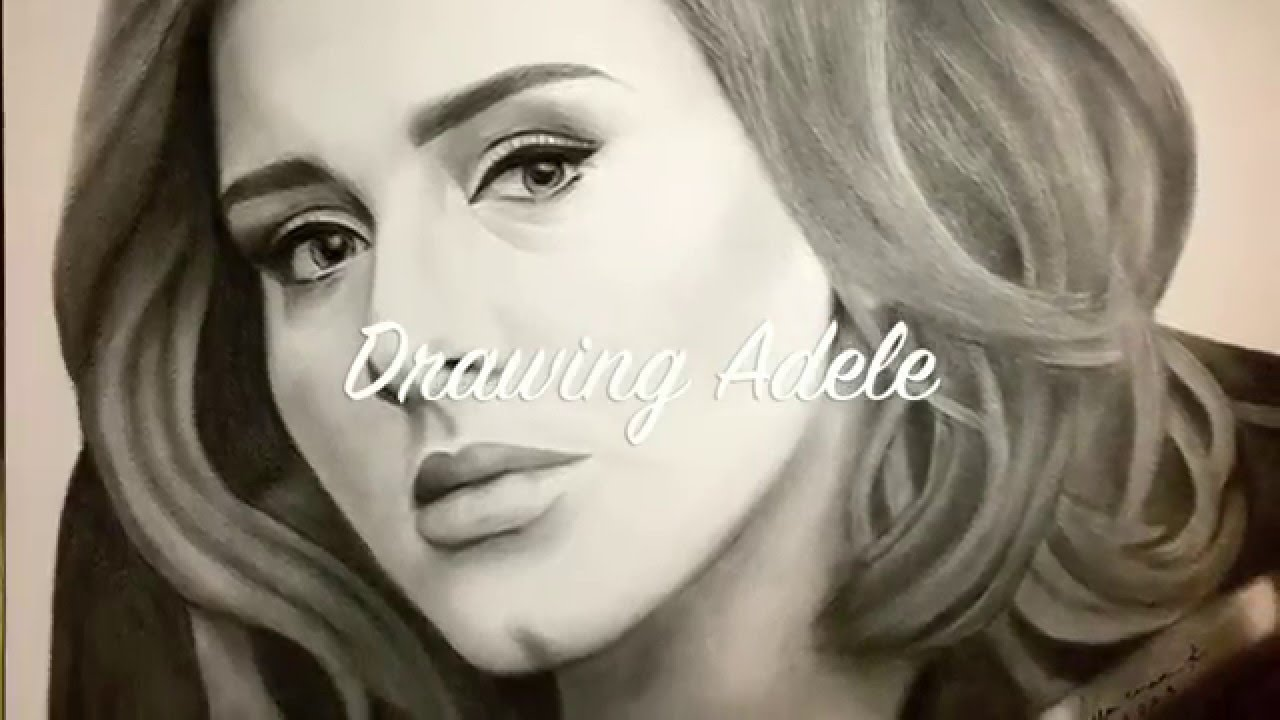Drawing adele realistic portrait with charcoal and graphite pencil watch in hd youtube