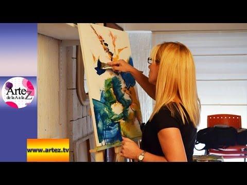 Clase para componer una obra abstracta en acr lico con - Pintar con acrilicos paso a paso ...