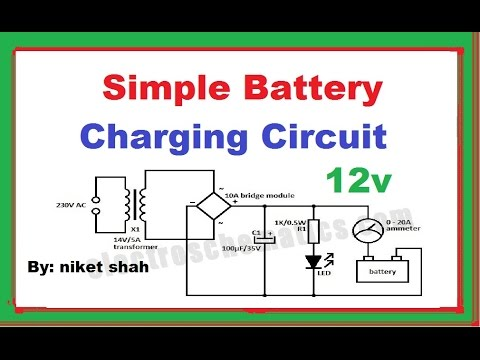 Automatic 12v Car Battery Charger Circuit Diagram Of Farm Animals Simple Charging In Hindi By Niket Shah - Youtube