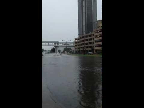 downtown mobile al flooding.MOV