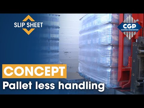 Slip-sheet + Pushpull | Pallet Less System Concept | ECOLOGISTIK #CGPCoatingInnovation