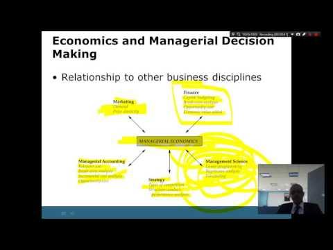 decision making in managerial economics