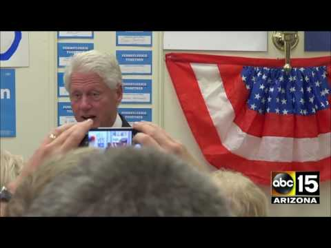 Bill Clinton campaign stops - Uniontown, PA - Washington, PA