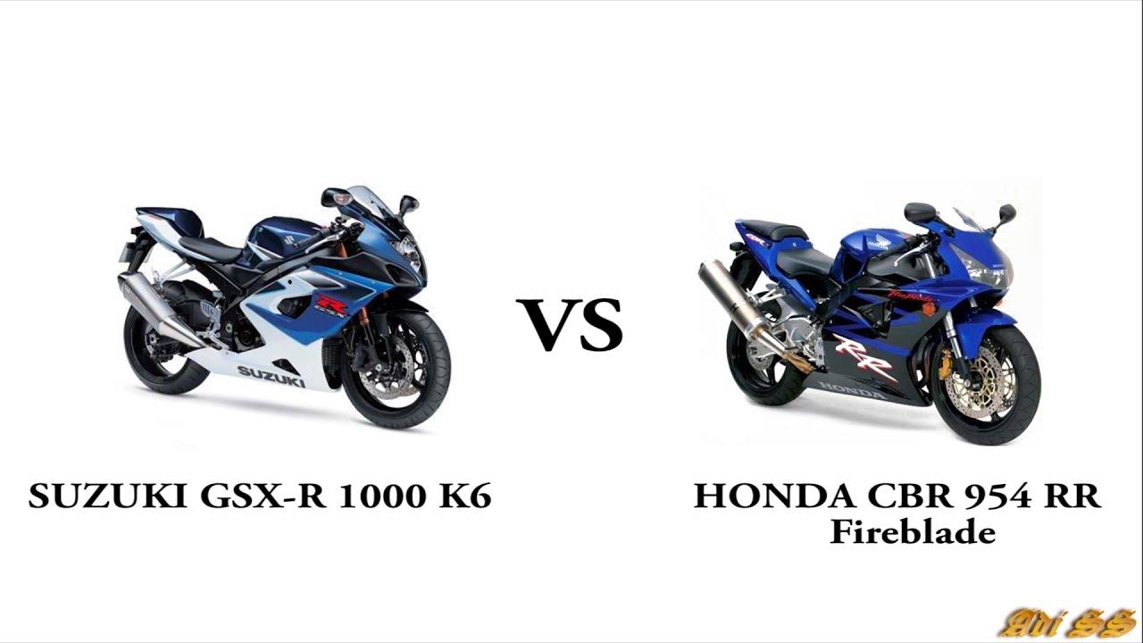 suzuki gsx-r 1000 или honda 1000 rr