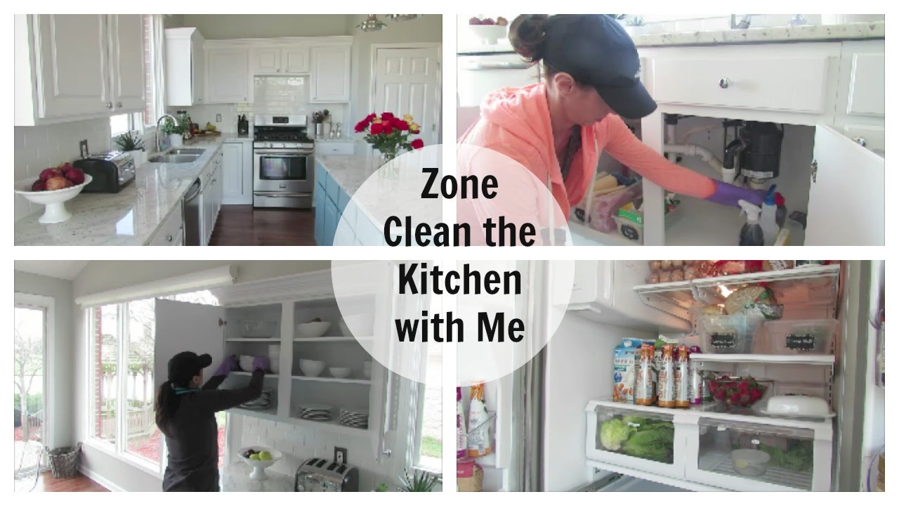 Charming Clean With Me | Kitchen Zone Cleaning Routine   YouTube