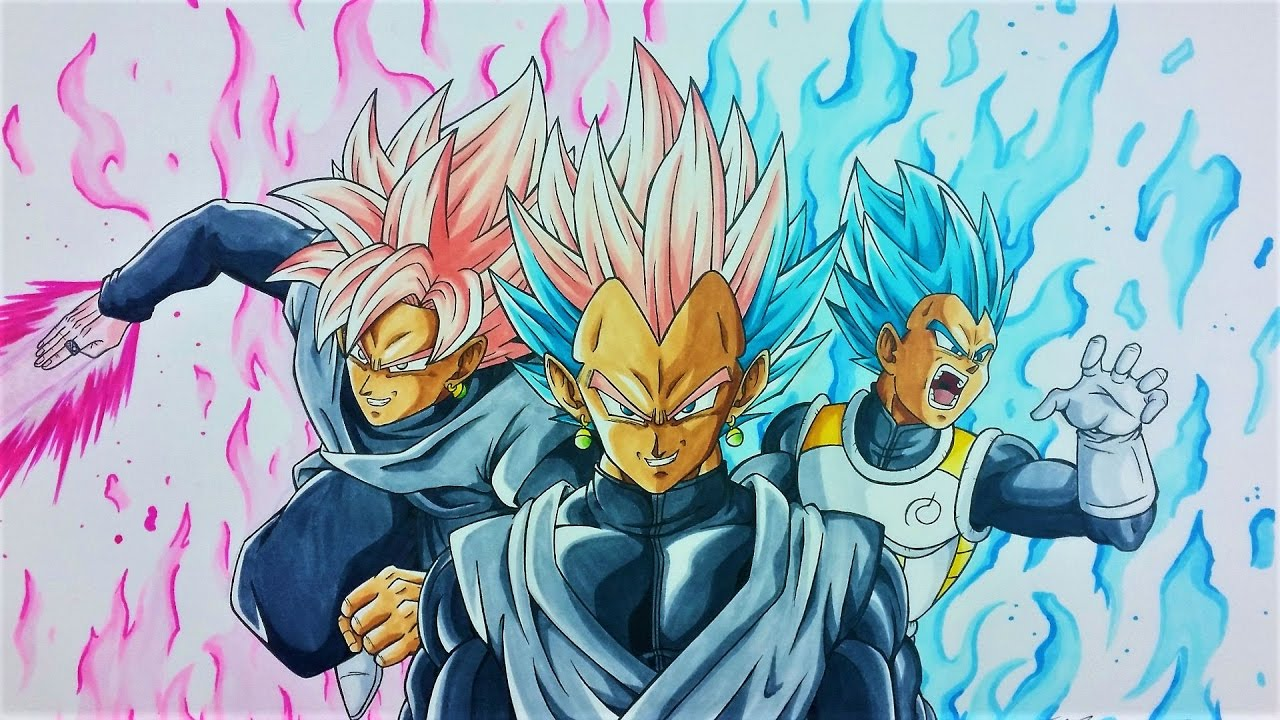 Drawing Gatuka Black Goku Black Amp Vegeta Fusion