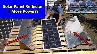 solar-panel-diy-light-reflectors-more-power-renogy-vs-rich-solar-vs-flexible-panel