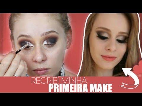 RECRIEI MINHA PRIMEIRA MAKE DO CANAL    Amanda Pastore