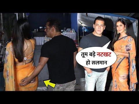 Salman Khan Impressed By Katrina Kaif In Saree Look During Bharat Movie Promotion   Best Jodi
