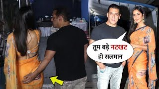 Salman Khan Impressed by Katrina Kaif in Saree look During Bharat Movie Promotion | Best Jodi