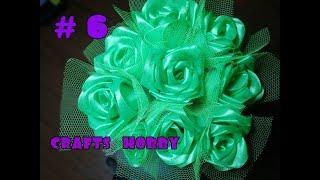 Букет из атласных лент и конфет своими руками. Часть 1: розы / подарок своими руками