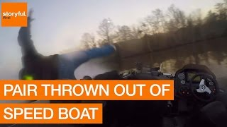 Pair Thrown Out of Speed Boat